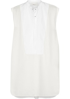 3.1 Phillip Lim Paneled cotton and silk mini dress