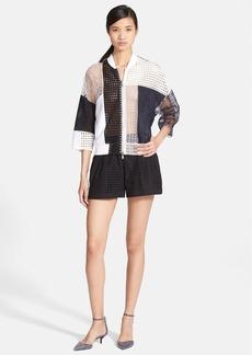 3.1 Phillip Lim Patchwork Lace Bomber Jacket