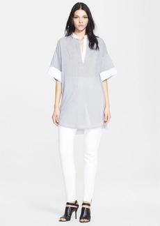 3.1 Phillip Lim Pinstripe Cotton Blend Tunic
