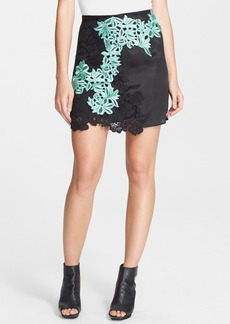 3.1 Phillip Lim Placed Lace Silk Skirt