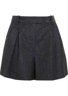 3.1 Phillip Lim Pleated glittered jacquard shorts