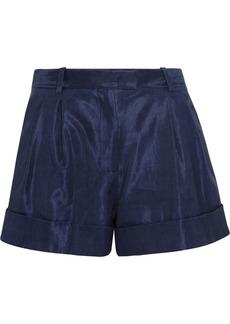 3.1 Phillip Lim Pleated woven linen-blend shorts
