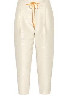 3.1 Phillip Lim Polka-dot silk and cotton-blend straight-leg pants