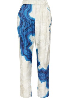 3.1 Phillip Lim Printed silk straight-leg pants