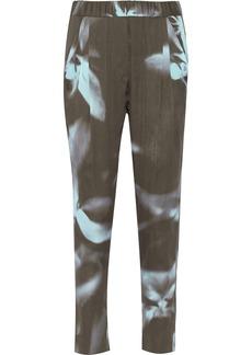 3.1 Phillip Lim Printed stretch-silk straight-leg pants