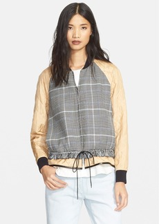 3.1 Phillip Lim Quilted Sleeve Bomber Jacket