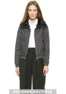 3.1 Phillip Lim Rabbit Fur Collar Jacket