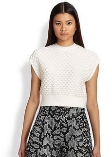 3.1 Phillip Lim Ric Rac Knit Cropped Top