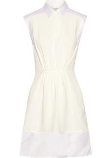 3.1 Phillip Lim Satin-trimmed piqué dress