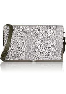3.1 Phillip Lim Scout lizard-effect and smooth-leather shoulder bag