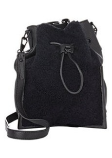 3.1 Phillip Lim Scout Shearling-Front Small Bucket Bag