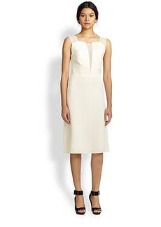 3.1 Phillip Lim Sheer Silk-Trimmed Dress