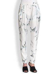 3.1 Phillip Lim Silk Paint Peel-Print Pants