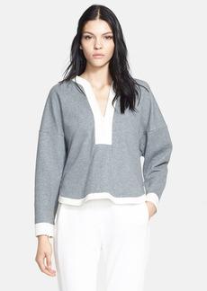 3.1 Phillip Lim Silk Trim Cotton Sweatshirt