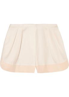 3.1 Phillip Lim Silk-trimmed cotton shorts