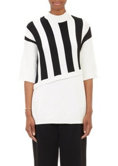 3.1 Phillip Lim Stripe Layered-Look Sweater
