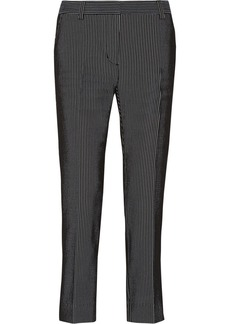3.1 Phillip Lim Striped plissé jacquard straight-leg pants