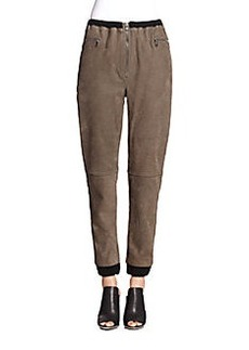 3.1 Phillip Lim Suede Cropped Track Pants