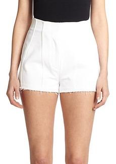 3.1 Phillip Lim Top-Stitched Cotton Shorts