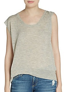 3.1 Phillip Lim Twisted Wool/Cashmere Top