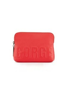 "31-Second ""GORGE"" Makeup Pouch, Raspberry   31-Second ""GORGE"" Makeup Pouch, Raspberry"