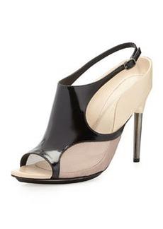 3.1 Phillip Lim Aria Leather Slingback Sandal, Black/Mauve