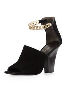 Berlin Ankle Chain Suede Sandal, Black   Berlin Ankle Chain Suede Sandal, Black