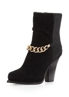 Berlin Chain-Strap Ankle Boot, Black   Berlin Chain-Strap Ankle Boot, Black