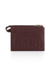 Cash Only Depeche Small Clutch Bag, Bordeaux   Cash Only Depeche Small Clutch Bag, Bordeaux