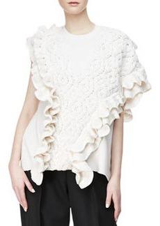 Crochet Cable-Knit Tank, Ivory   Crochet Cable-Knit Tank, Ivory
