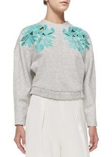 Embroidered Lace Sweatshirt   Embroidered Lace Sweatshirt