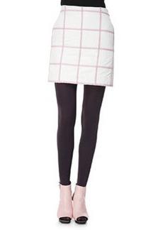 Grid Miniskirt, White/Pink   Grid Miniskirt, White/Pink