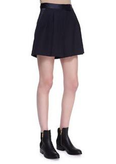 Pleated Wide-Leg Pocket Shorts   Pleated Wide-Leg Pocket Shorts