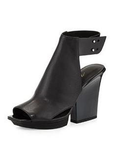 Runway Juno High-Vamp Leather Sandal, Black   Runway Juno High-Vamp Leather Sandal, Black