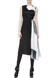 Sleeveless Shadow Asymmetric-Hem Dress, Purple   Sleeveless Shadow Asymmetric-Hem Dress, Purple