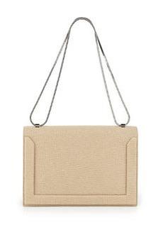 Soleil Flap Shoulder Bag, Nougat/Black   Soleil Flap Shoulder Bag, Nougat/Black