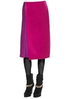 Two-Tone Draped Midi Skirt   Two-Tone Draped Midi Skirt