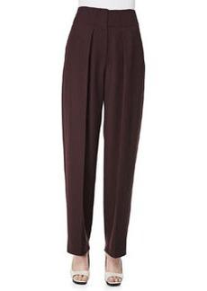 Wool Wide-Leg Trousers, Mulberry   Wool Wide-Leg Trousers, Mulberry