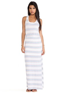 Splendid Striped Empire Waist Maxi Dress in White