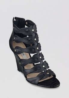 GUESS Open Toe Gladiator Wedge Sandals - Jily2