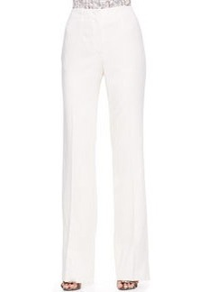 Escada Wide-Leg Pants, Off-White