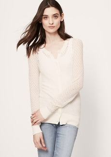 Sheer Pointelle Cardigan