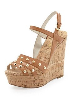 MICHAEL Michael Kors Jolie Studded Cork Wedge