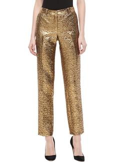 Michael Kors Samantha Pebble Brocade Skinny Pants