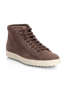 Tod's Suede High-Top Sneakers