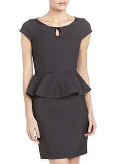 Laundry by Shelli Segal Peplum Sheath Dress, Charcoal