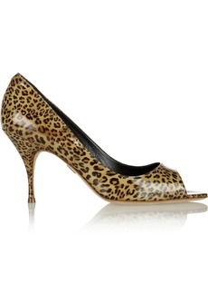 Brian Atwood Carla leopard-print patent-leather pumps