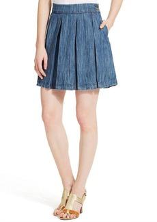 Tommy Hilfiger Pleated Denim Skirt