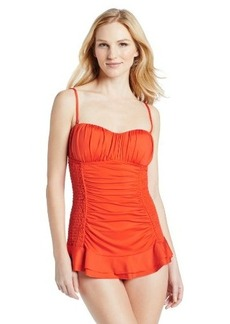 Kenneth Cole New York Women's Smocked Swim Dress