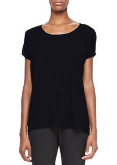 Elie Tahari Rhonda Knit Short-Sleeve Top, Black